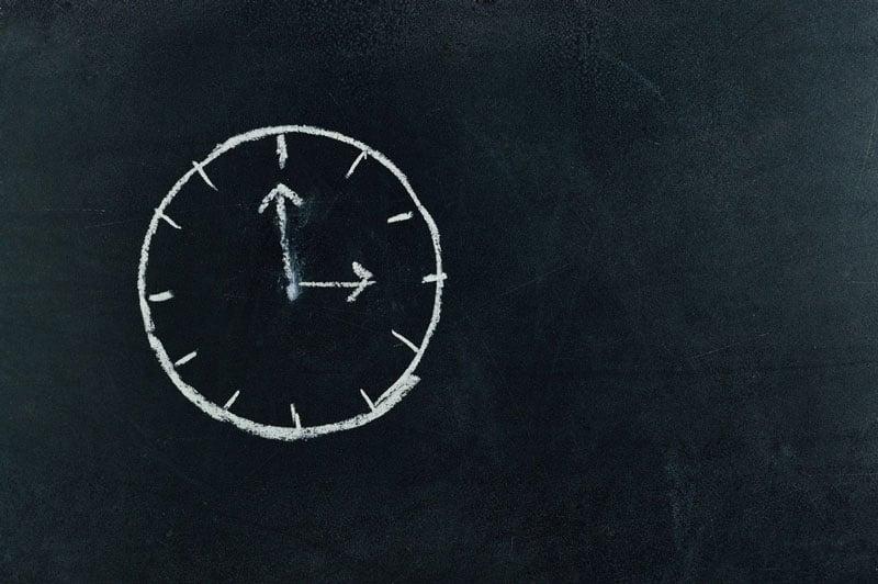 Symbolisch für einen Arbeitszeitrechner: eine Uhr!